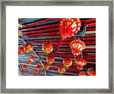 Framed Print featuring the photograph Red Lanterns 3 by Randall Weidner