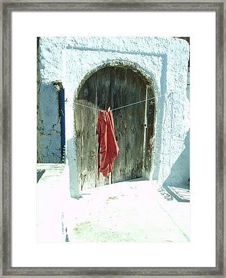 Red Laundry Framed Print by Jennifer Kelly