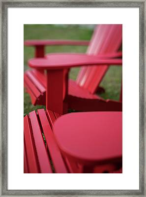 Red Lawn Chair Number 2 Framed Print