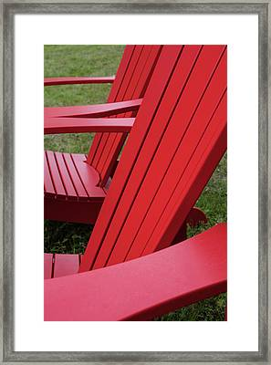 Red Lawn Chair Framed Print