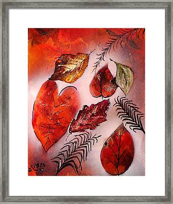 Red Leaves Framed Print by Susan Kubes