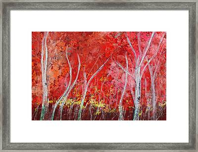Crimson Leaves Framed Print