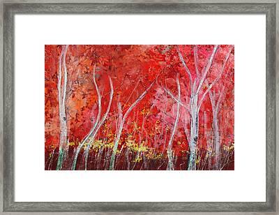 Crimson Leaves Framed Print