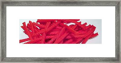 Red Licorice  Framed Print