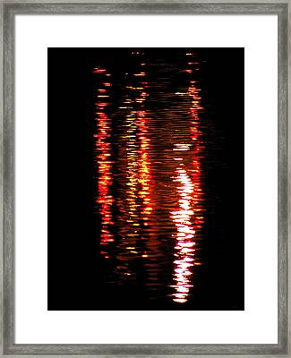 Framed Print featuring the photograph Red Light by David Dunham