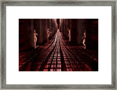 Red Light District 1924 Framed Print by John Haldane