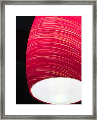 Red Light Cafe Framed Print