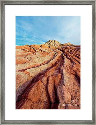 Red Lines Framed Print by Mike Dawson