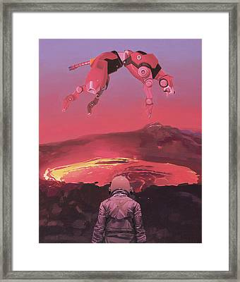 Red Lion Framed Print