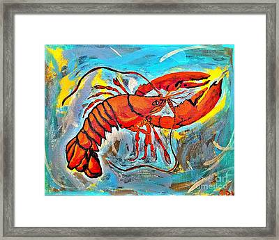 Red Lobster Abstract  Framed Print by Scott D Van Osdol