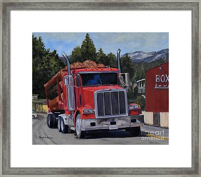 Red Logger Framed Print