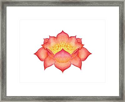 Framed Print featuring the painting Red Lotus by Elizabeth Lock