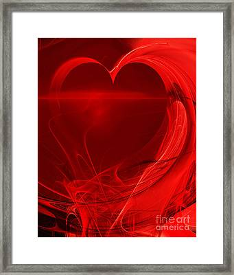 Red Love . A120423.279 Framed Print