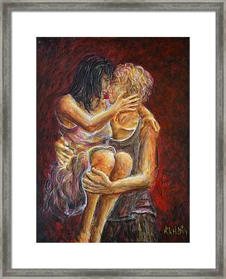 Red Lovers 01 Framed Print