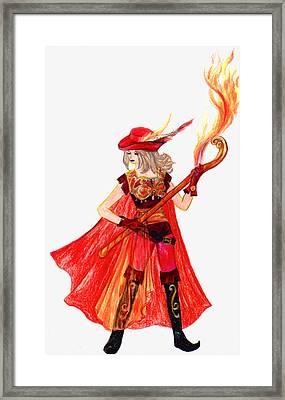 Red Mage Framed Print