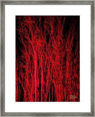 Framed Print featuring the digital art Red Magic by Doug Kreuger