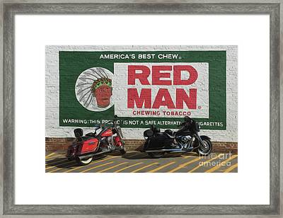 Red Man Chewing Tobacco Framed Print by Tom Gari Gallery-Three-Photography