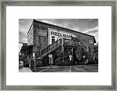 Red Man Gold Blend In Black And White Framed Print