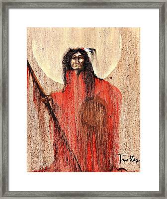 Red Man Framed Print by Patrick Trotter