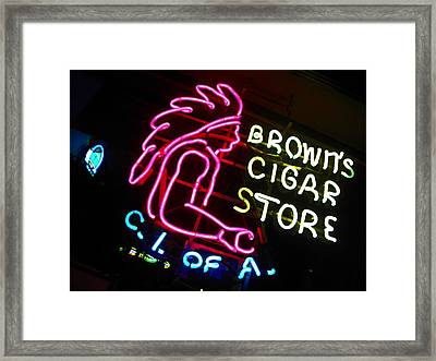 Red Man's Smoke Shop Framed Print by Elizabeth Hoskinson