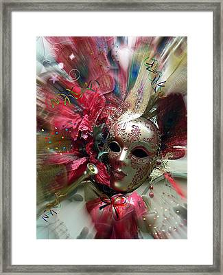 Red Mask Of Fun Framed Print
