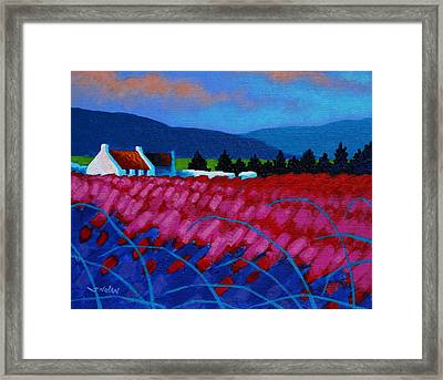 Red Meadow Framed Print by John  Nolan