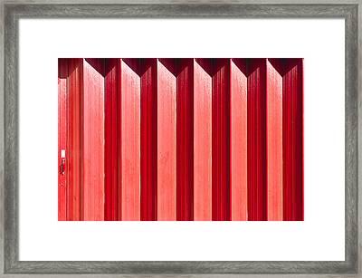 Red Metal Door Framed Print