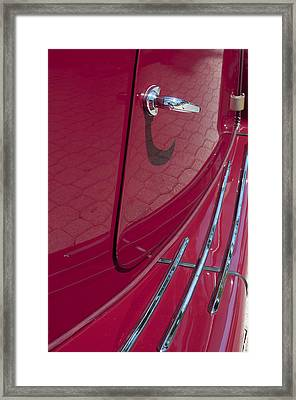 Red Mg Running Board Framed Print