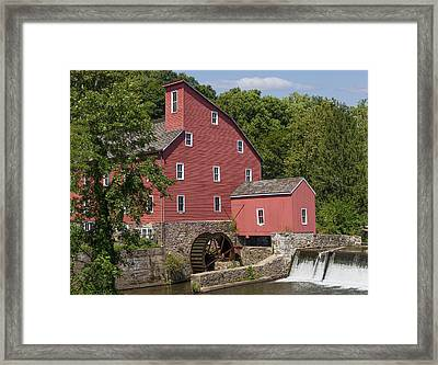 Red Mill At Clinton Framed Print by Capt Gerry Hare