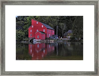 Red Mill Framed Print