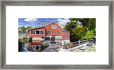 Red Mill Manchester Vt Framed Print by Hollis Machala