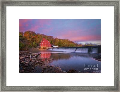 Red Mill Swirls  Framed Print by Michael Ver Sprill