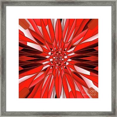 Red Mineral Framed Print
