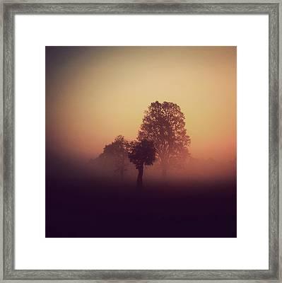 Red Mist Framed Print by Yo Choowa
