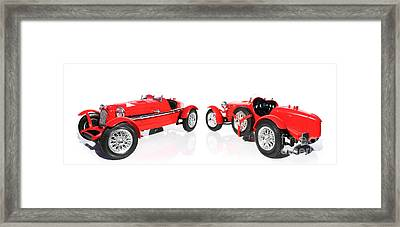 Red Model Car Framed Print by Jorgo Photography - Wall Art Gallery
