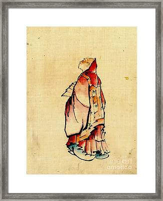 Red Monk 1840 Framed Print by Padre Art