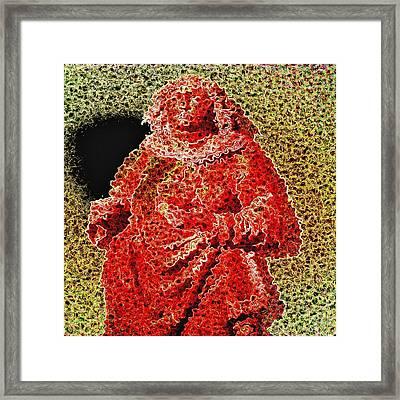 Red Monk Framed Print