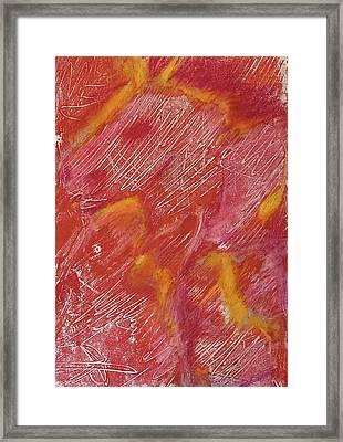 Red Monoprint One Framed Print