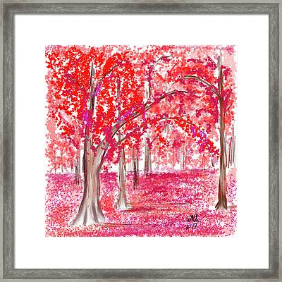 Red Mood Framed Print by Angela A Stanton