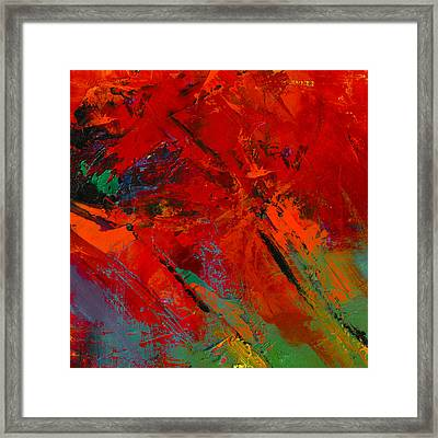 Red Mood Framed Print by Elise Palmigiani