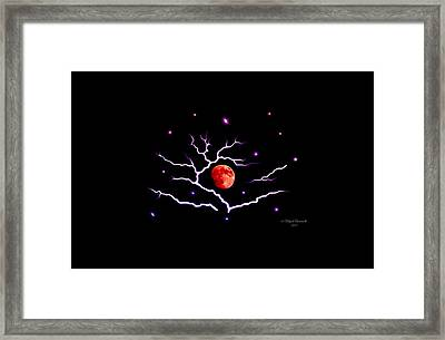 Red Moon Framed Print by Majula Warmoth