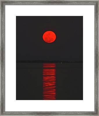 Red Moon Rising  Framed Print