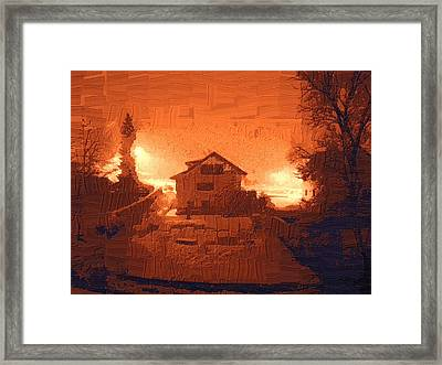 Red Morn Framed Print by Chuck Shafer