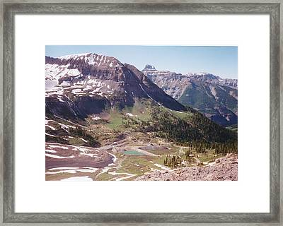 Red Mountain Framed Print by Dale Jackson