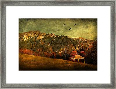 Red Mountain Framed Print by Endre Fulop
