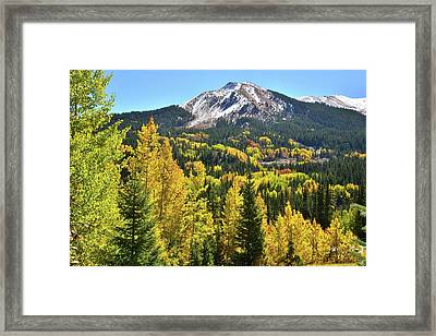 Framed Print featuring the photograph Red Mountain Fall Color by Ray Mathis