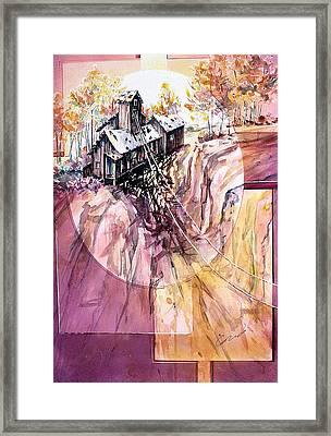 Red Mountain Mine Framed Print