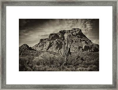 Red Mountain Monochrome  Framed Print