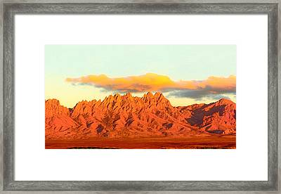 Red Mountain Sunset Organs Framed Print by Jack Pumphrey