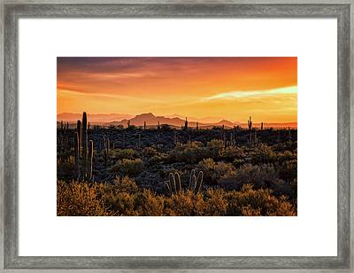 Framed Print featuring the photograph Red Mountain Sunset Part Two  by Saija Lehtonen